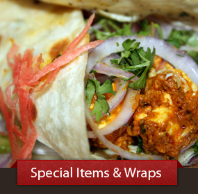 View Our Special Items and Wraps Menu