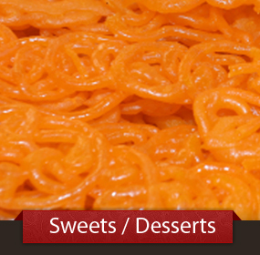 View our Sweets Menu
